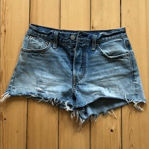 Levis High-Waisted Jean Shorts